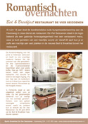 bed & breakfast lisse, de vier seizoenen